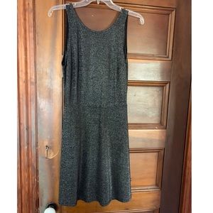 H&M Black/gray sparkly metallic skater dress